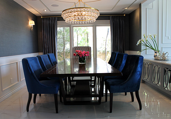 Award-winnning Los Angeles Dinning Room - Designed by Odeau Interior Design & Odeau Interior Design - Los Angeles Brentwood Malibu Beverly Hills